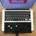 千葉市稲毛からMac持ち込み修理 キーボード交換