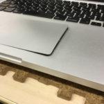 MacbookPro バッテリー膨張 トラックパッド変形