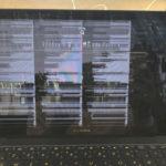 ASUS ZenBook 3 UX390UA ノイズ、画面が乱れる修理