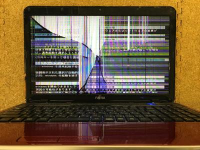 パソコン液晶割れ