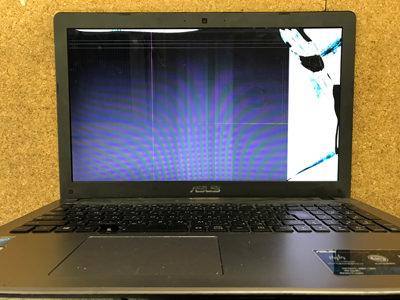 X550L 画面割れ