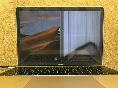 MacBook 画面割れ