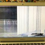 MacBook Air A1466の修理 液晶画面割れ