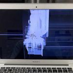 船橋市 MacBook Airの画面割れを当日修理しました