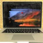 MacBook pro MGXC2J/Aの液晶割れ パネル交換