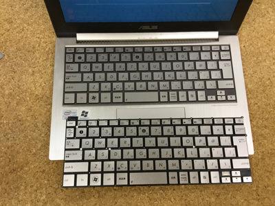 UX21E キーボード交換