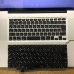 MacbookPro 17 キーボード交換