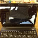 Acerのノートパソコン画面割れ、亀裂を格安に直します!