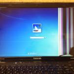 東芝パソコンの画面割れ、ヒビなどの液晶交換が格安!